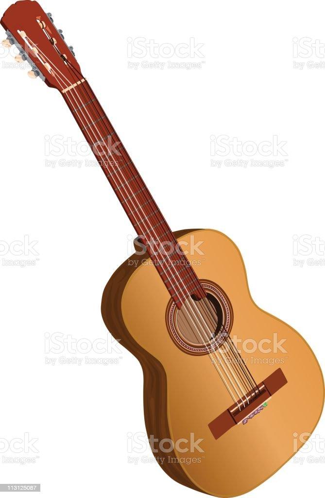 Spanish Acoustic Guitar (Vector) royalty-free stock vector art