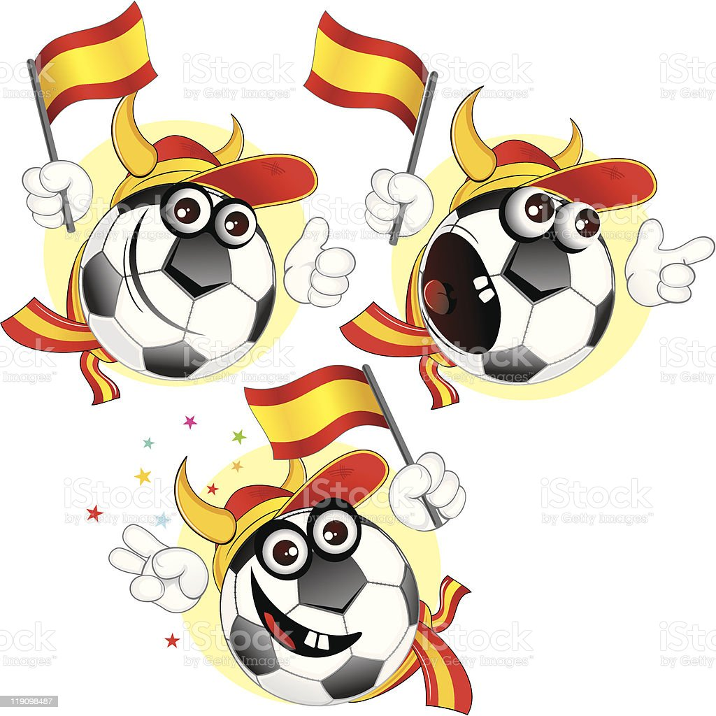 Spanish cartoon ball royalty-free stock vector art