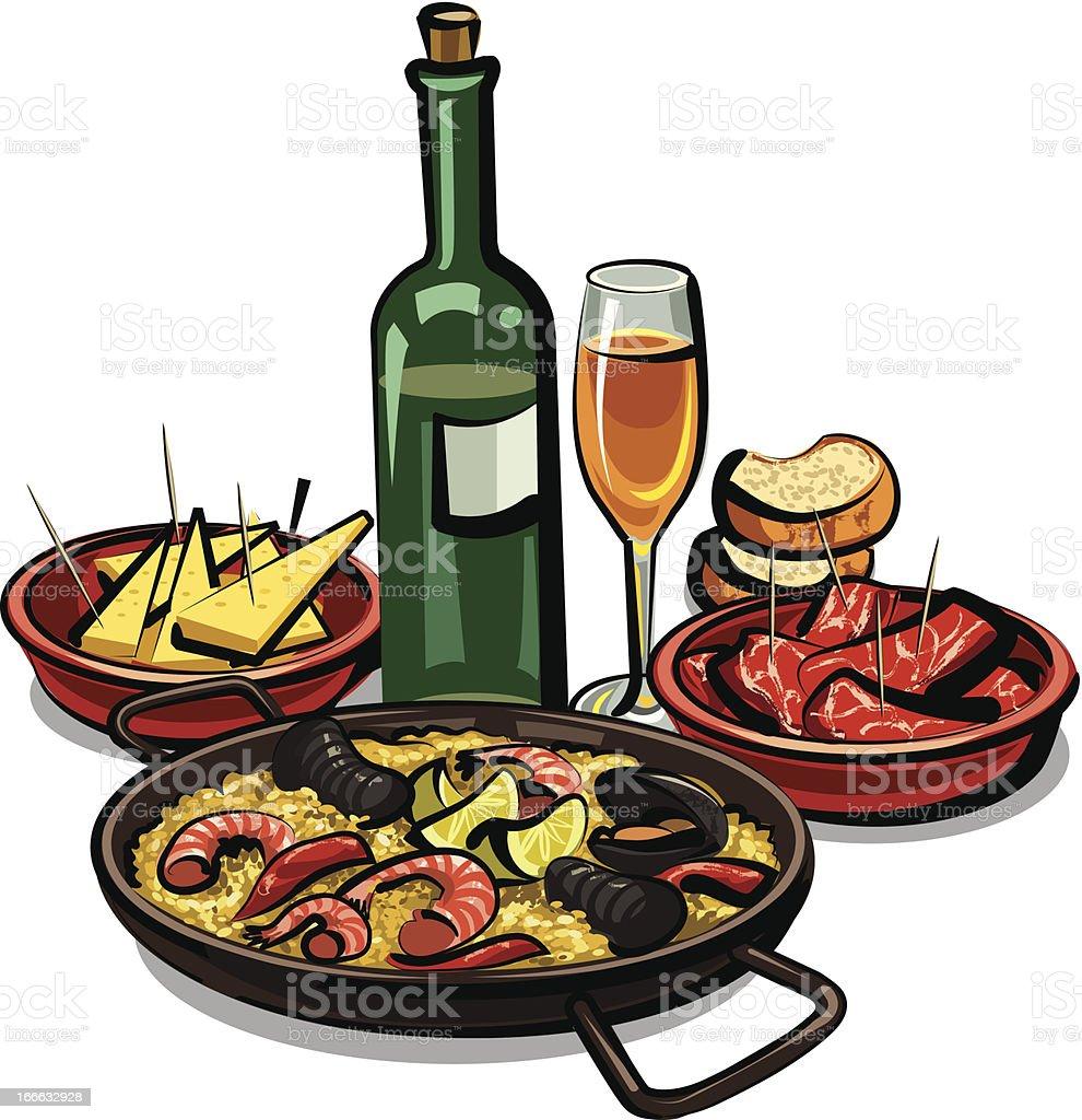 spanish cuisine royalty-free stock vector art