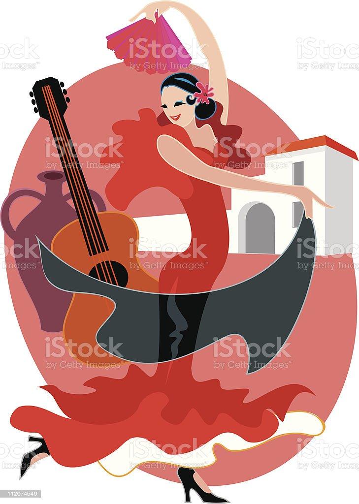 Spanish Dancer royalty-free stock vector art