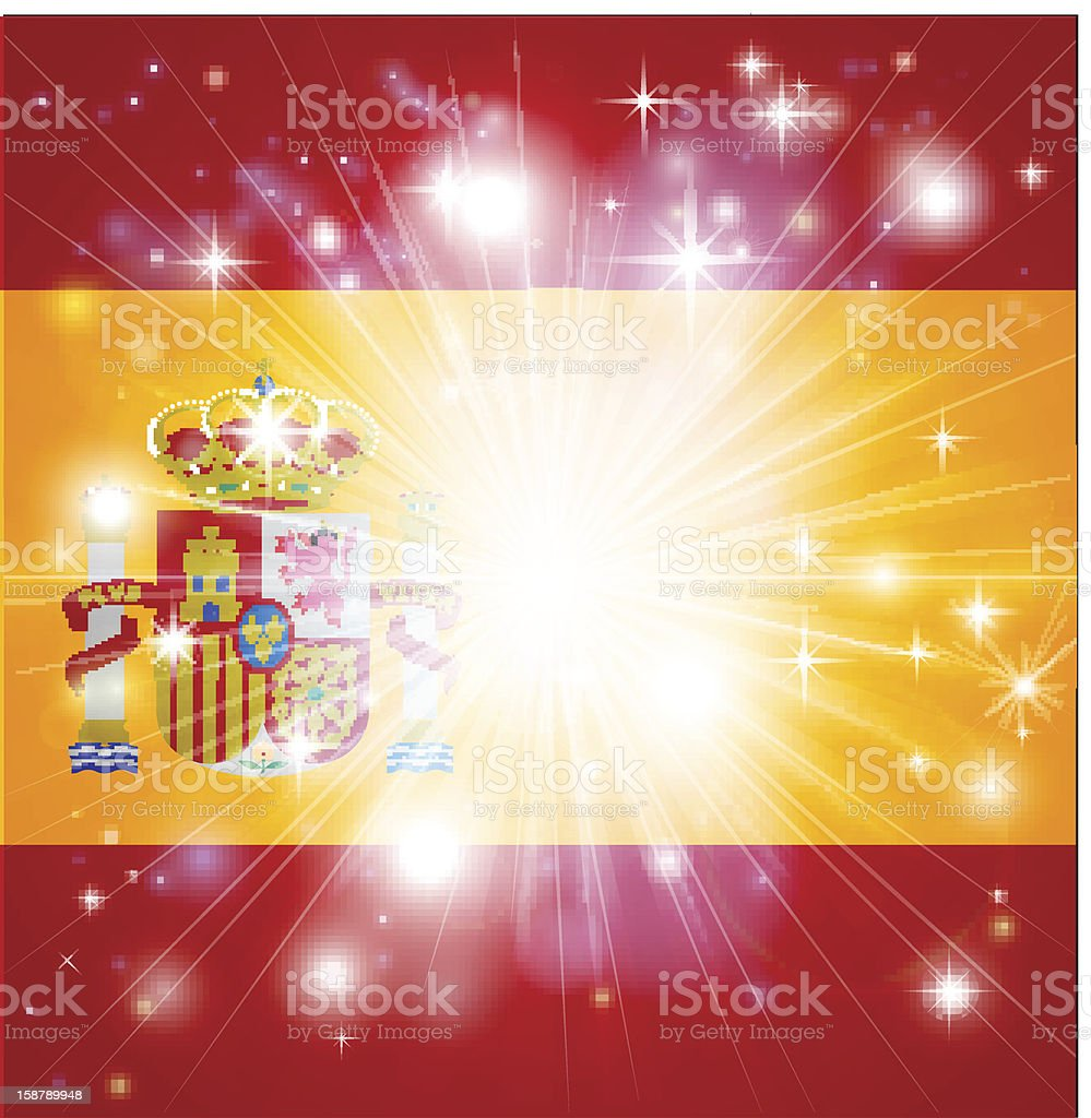 Spanish flag background royalty-free stock vector art