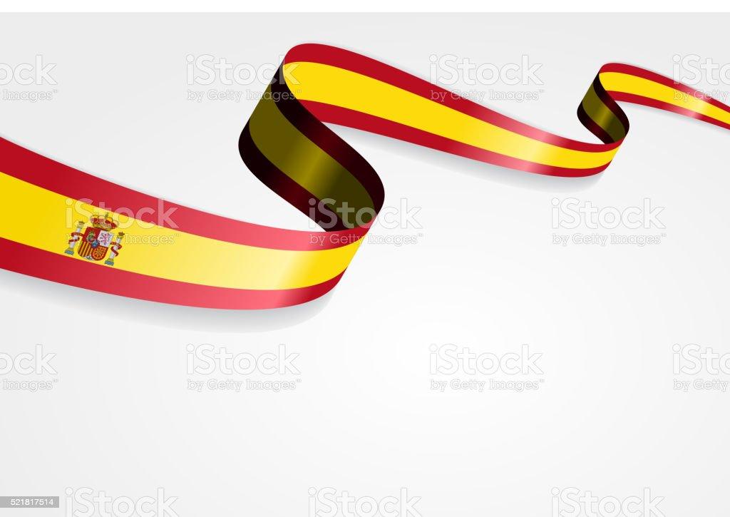 Spanish flag background. Vector illustration vector art illustration