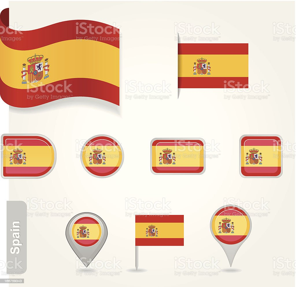 Spanish flag icon royalty-free stock vector art