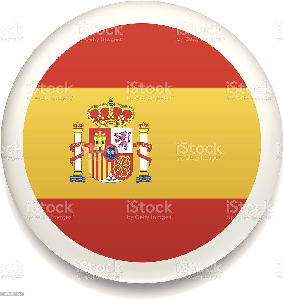 Spanish flag vector button royalty-free stock vector art