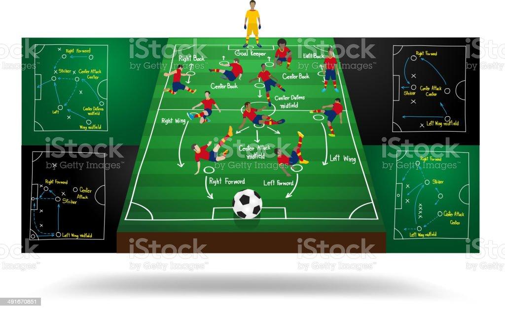 Spanish national team soccer football player vector art illustration