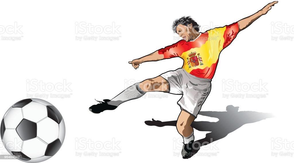 Spanish soccer player royalty-free stock vector art