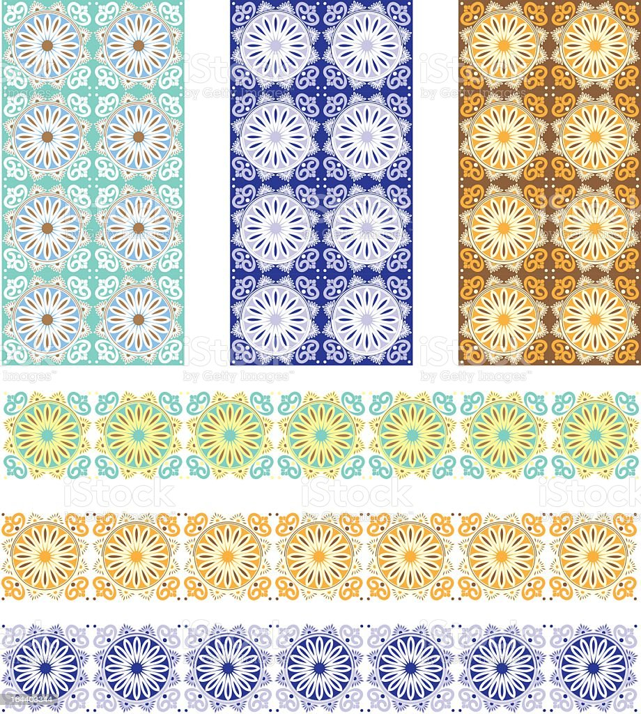 Spanish Tile designs royalty-free stock vector art