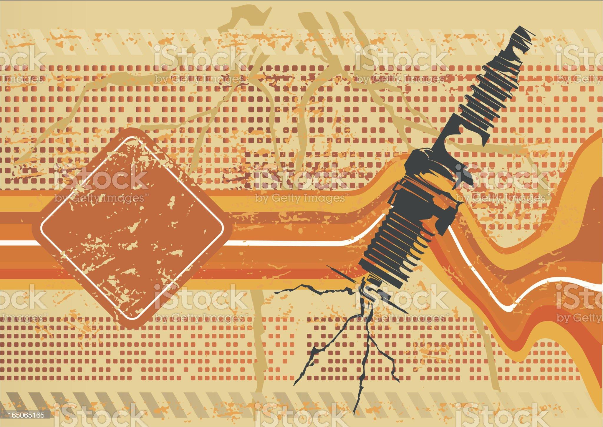 Spark plug - energy stencil royalty-free stock vector art