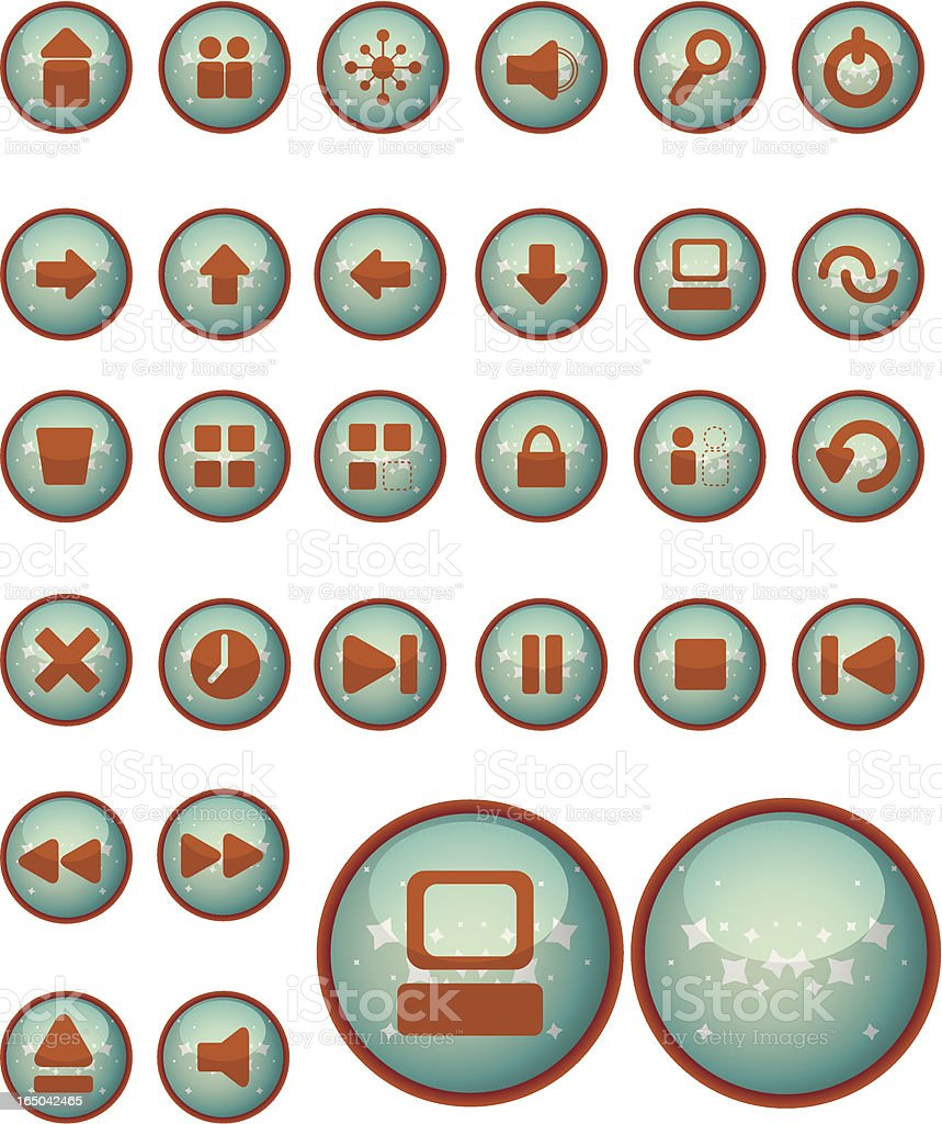 sparkle icons / buttons  (vector) royalty-free stock vector art