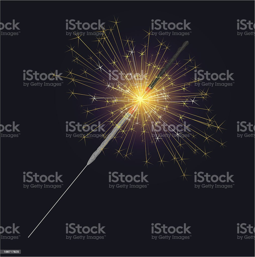 Sparkler vector art illustration