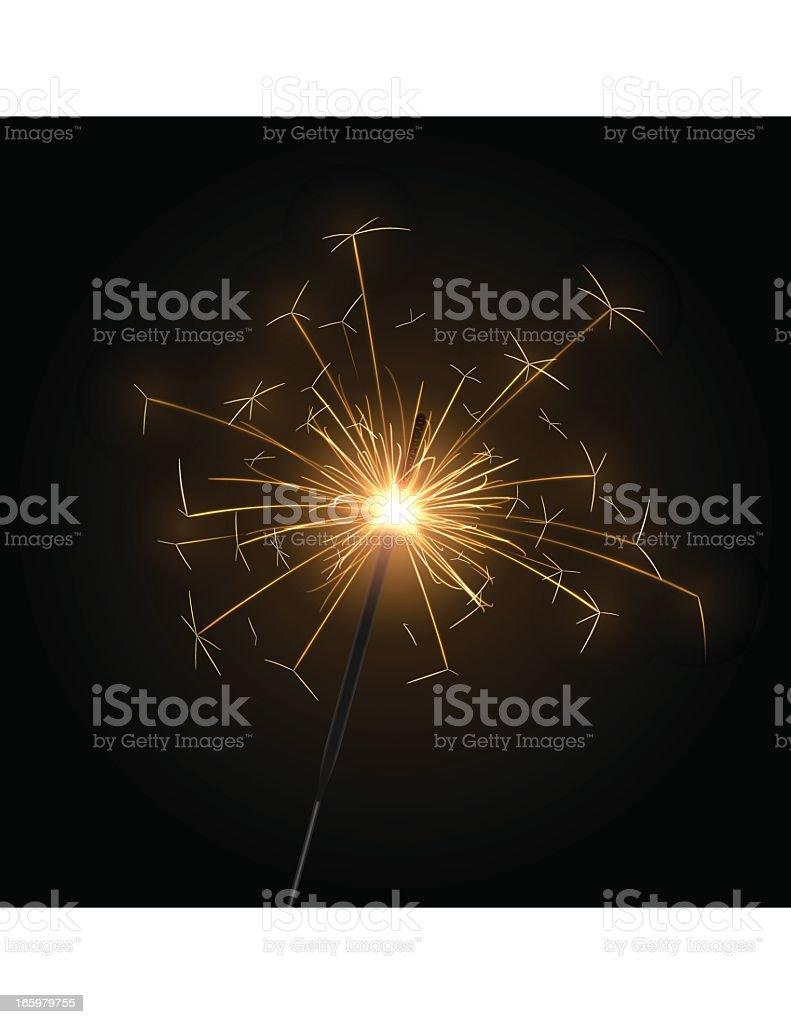 Sparkler royalty-free stock vector art