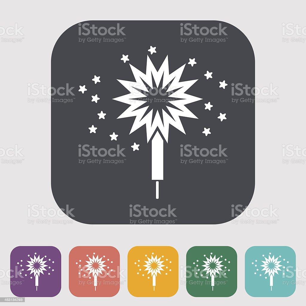 Sparkler vector art illustration