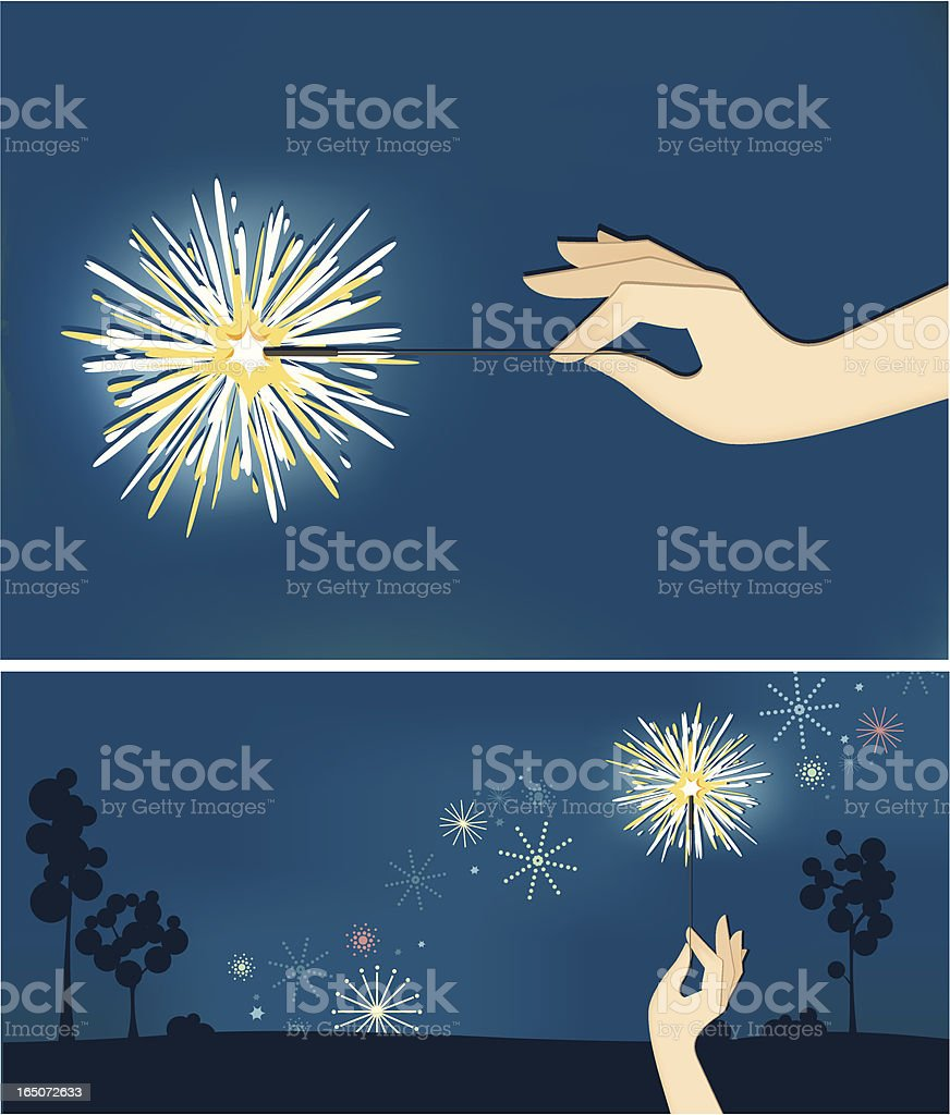 sparkler2 vector art illustration