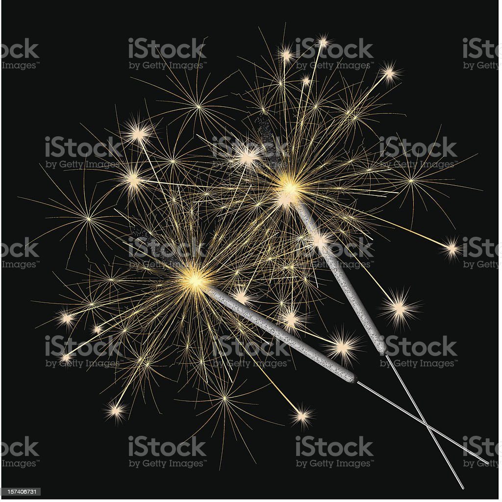 sparklers vector vector art illustration
