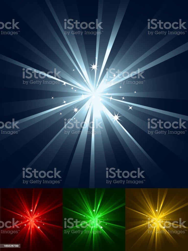 Sparkling Burst of Light Set vector art illustration