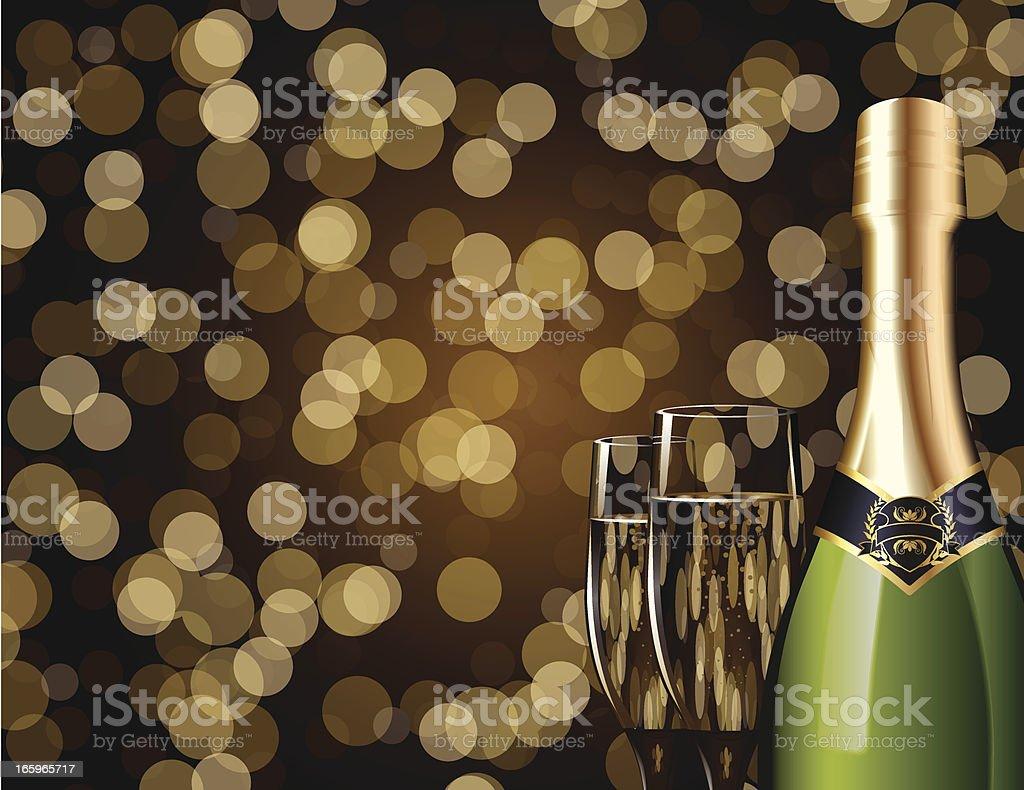 Sparkling Champagne vector art illustration