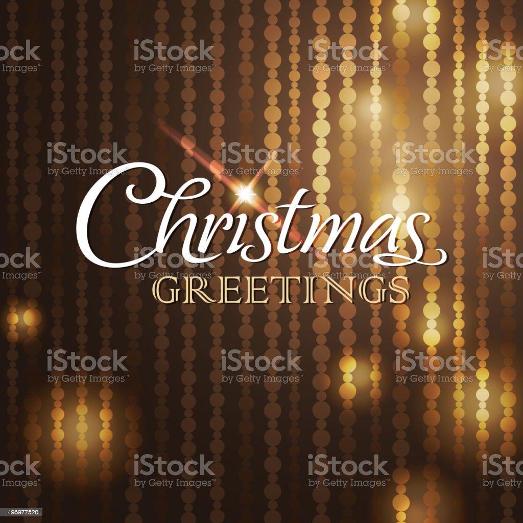 Sparkling christmas greetings vector art illustration