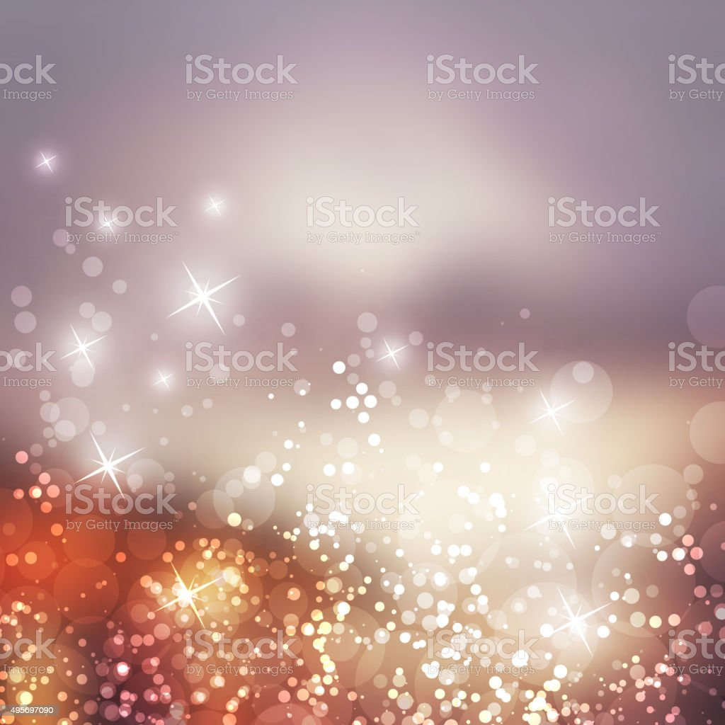 Sparkling Cover Design Template with Abstract Blurred Background vector art illustration