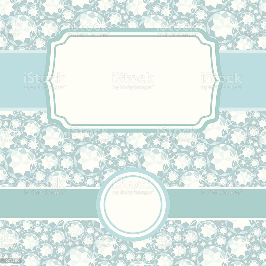 Sparkling Diamonds Seamless Pattern And Frames Set royalty-free stock vector art