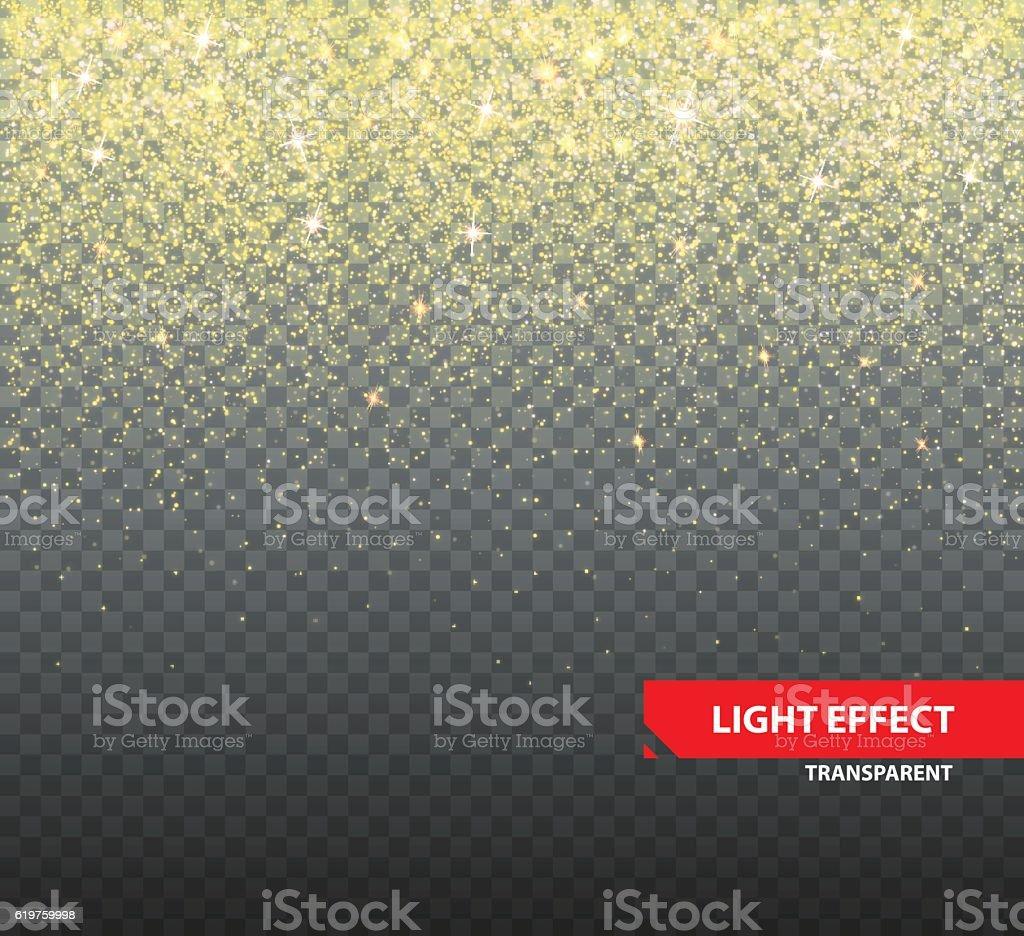 Sparkling glitter on transparent background vector art illustration