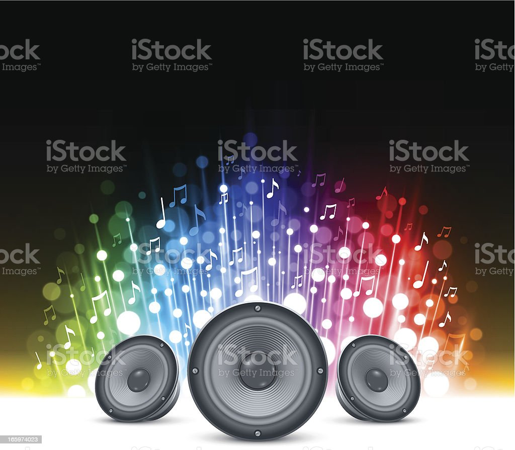 Sparkling music background royalty-free stock vector art