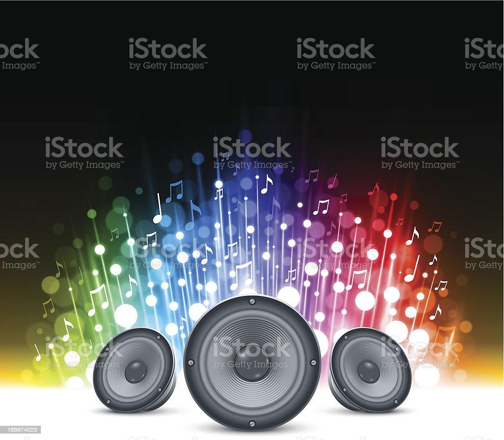 Sparkling music background vector art illustration