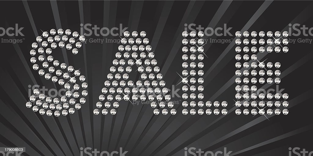 Sparkling Sale royalty-free stock vector art