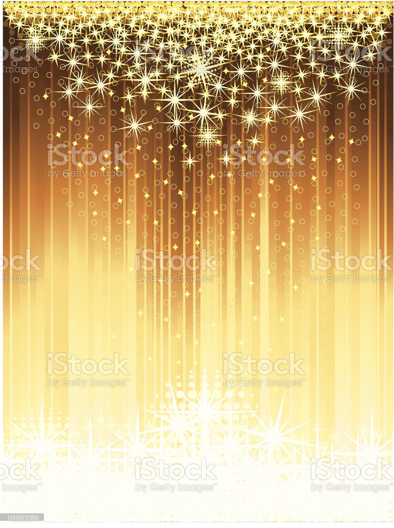 Sparkling Starbursts royalty-free stock vector art
