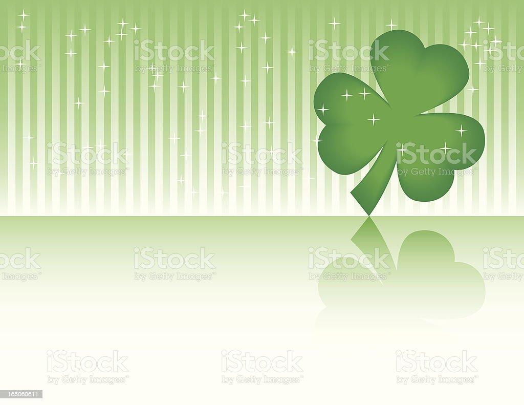 Sparkly Shamrock Background vector art illustration