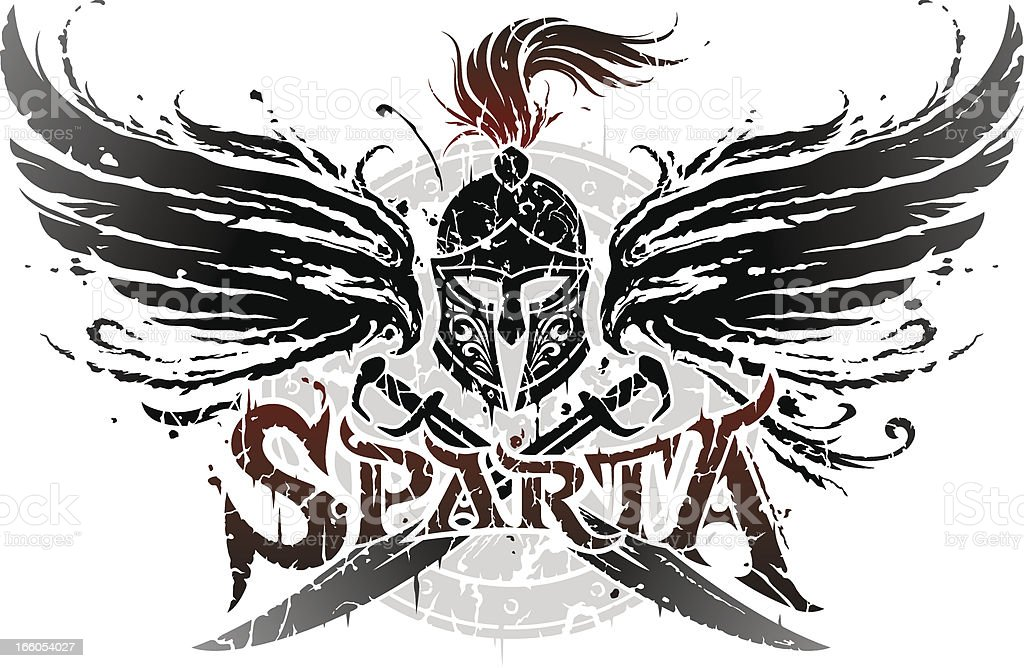 Sparta emblem vector art illustration