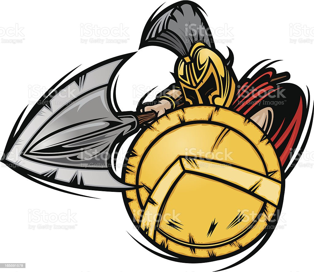 Spartan Charge vector art illustration