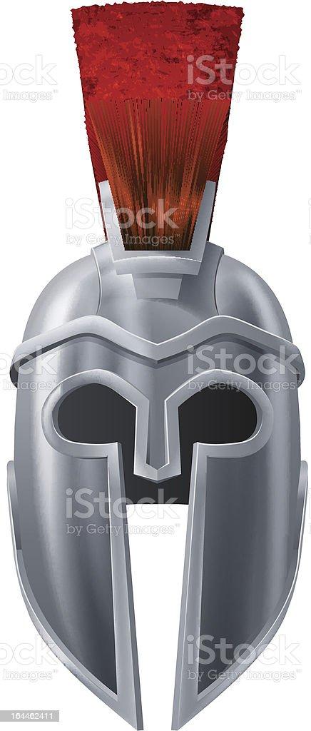 Spartan helmet illustration vector art illustration