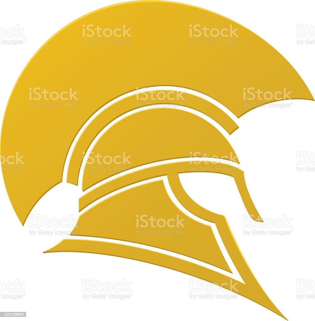 Spartan or Trojan helmet icon vector art illustration