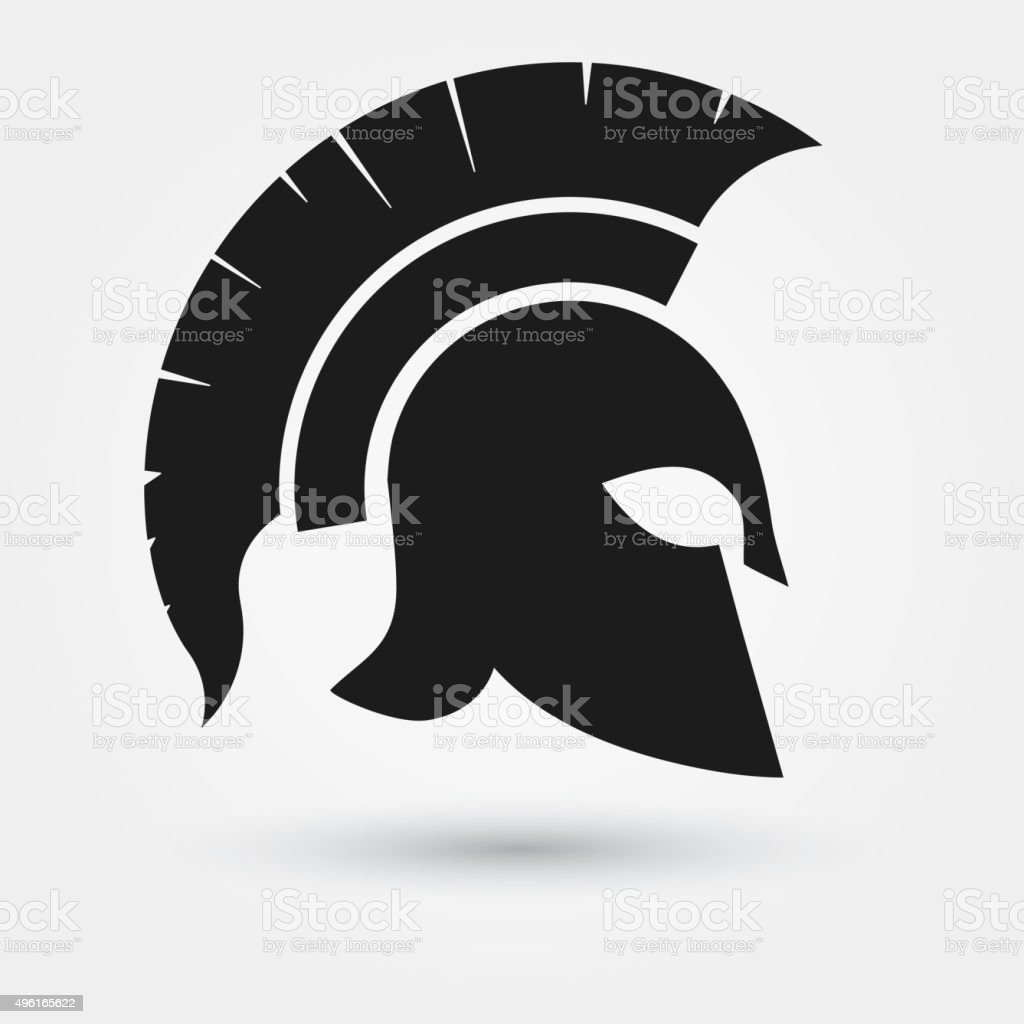 Spartan warrior Helmet vector art illustration