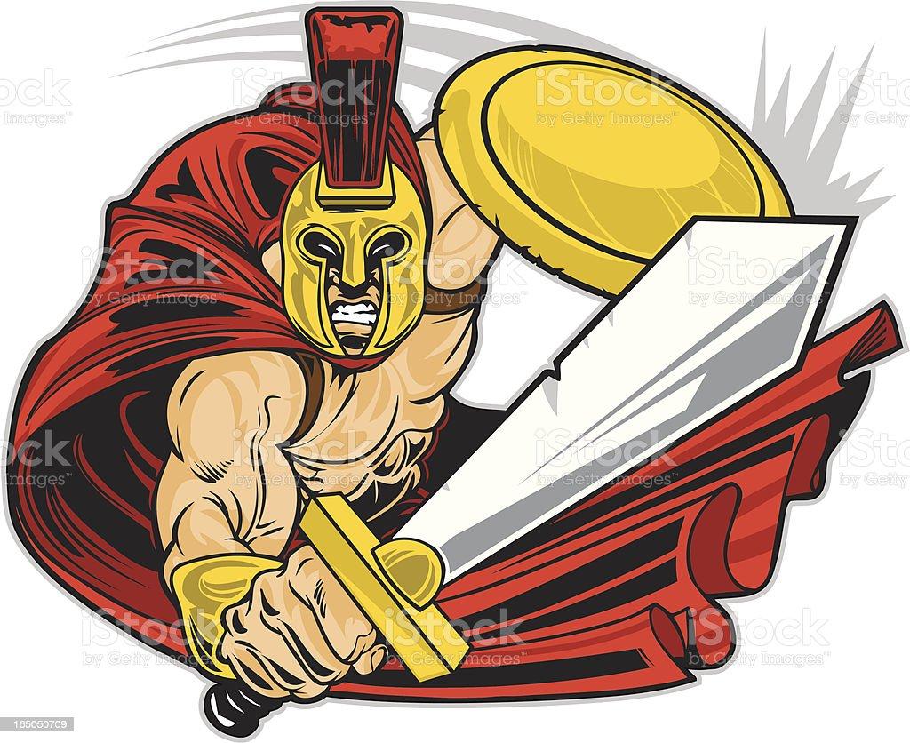 Spartan Warrior royalty-free stock vector art