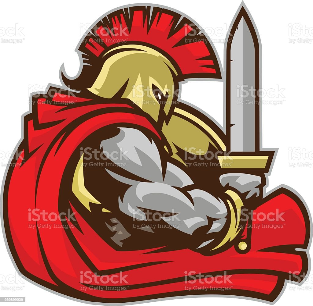 Spartan Warrior vector art illustration