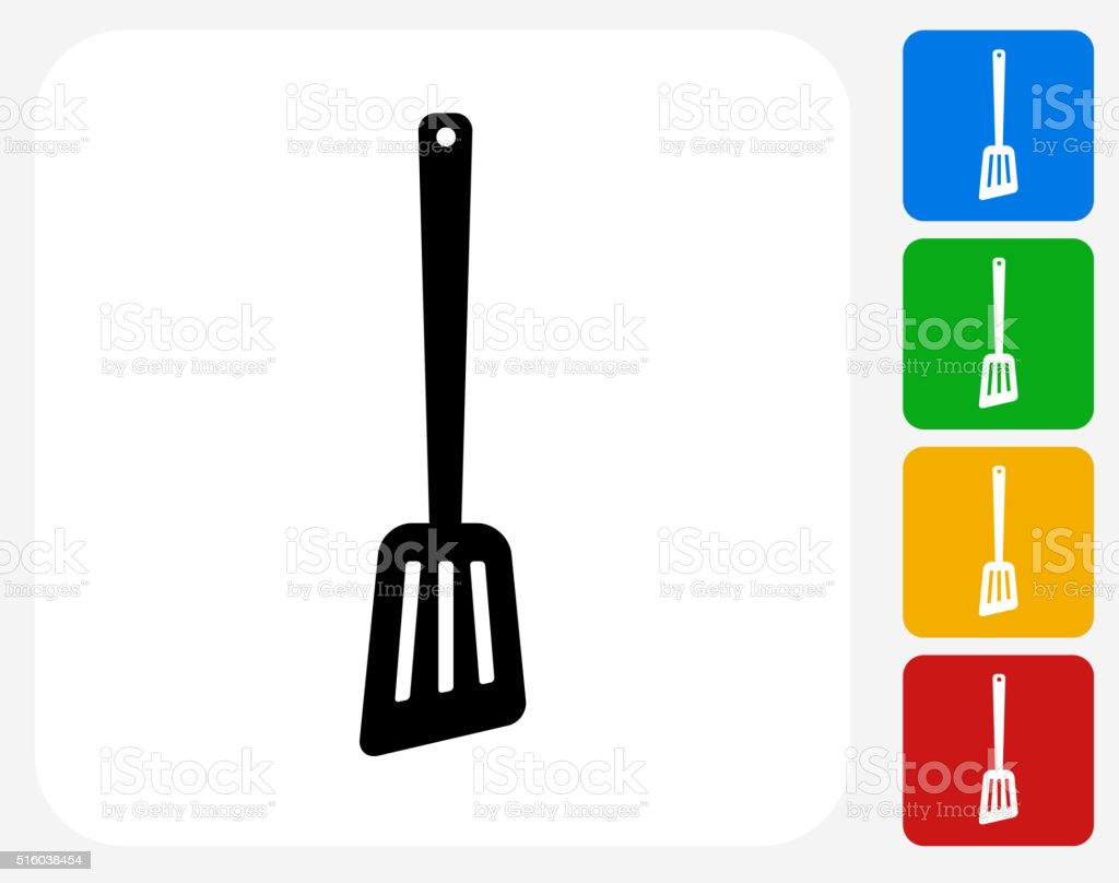 Spatula Icon Flat Graphic Design vector art illustration