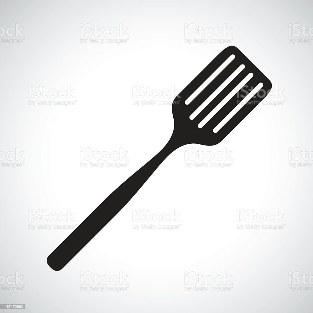 spatula silhouette vector art illustration
