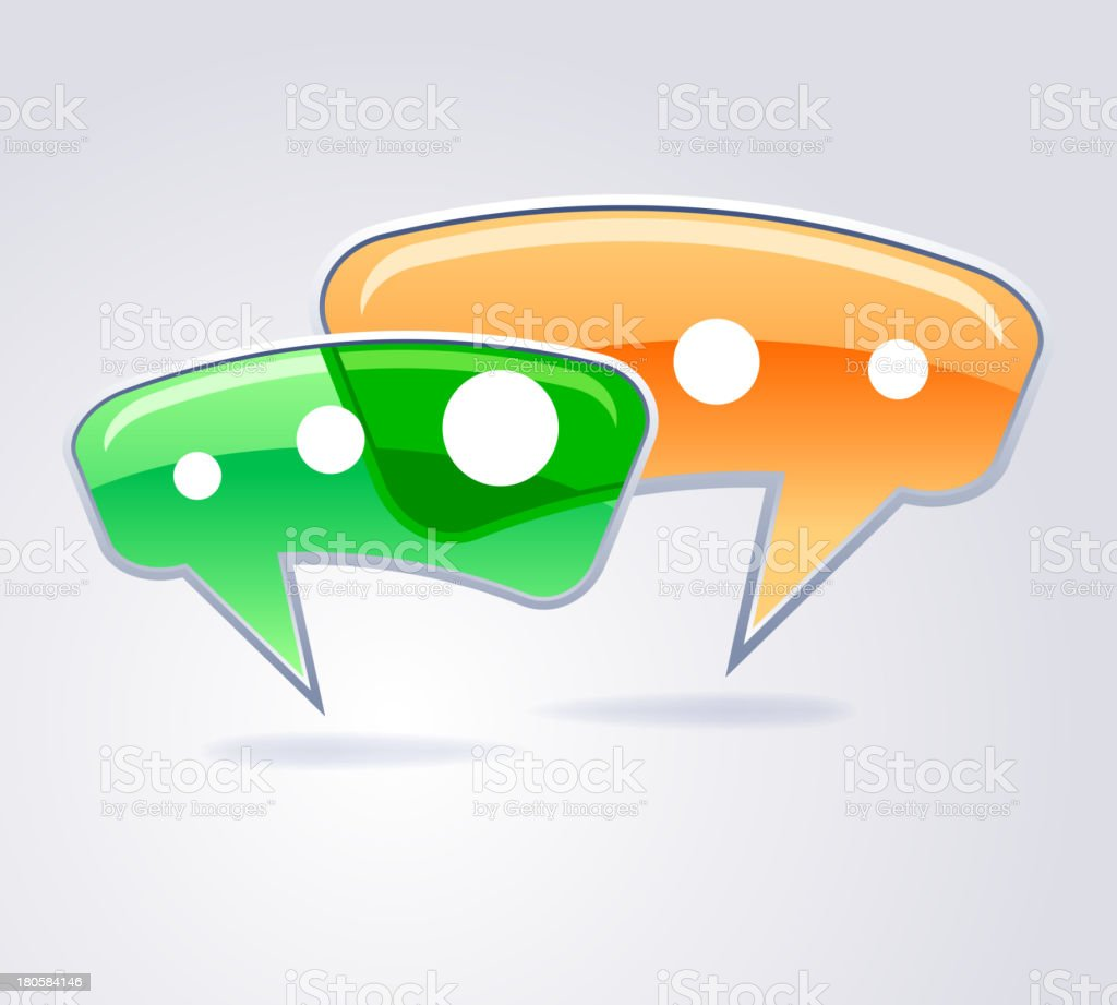 Speak bubbles stickers royalty-free stock vector art