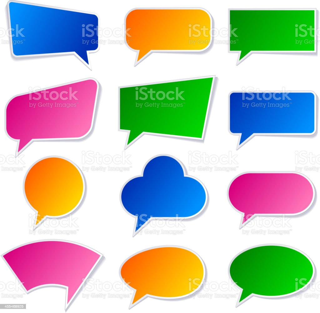 Speak bubbles stickers royalty-free stock vector art