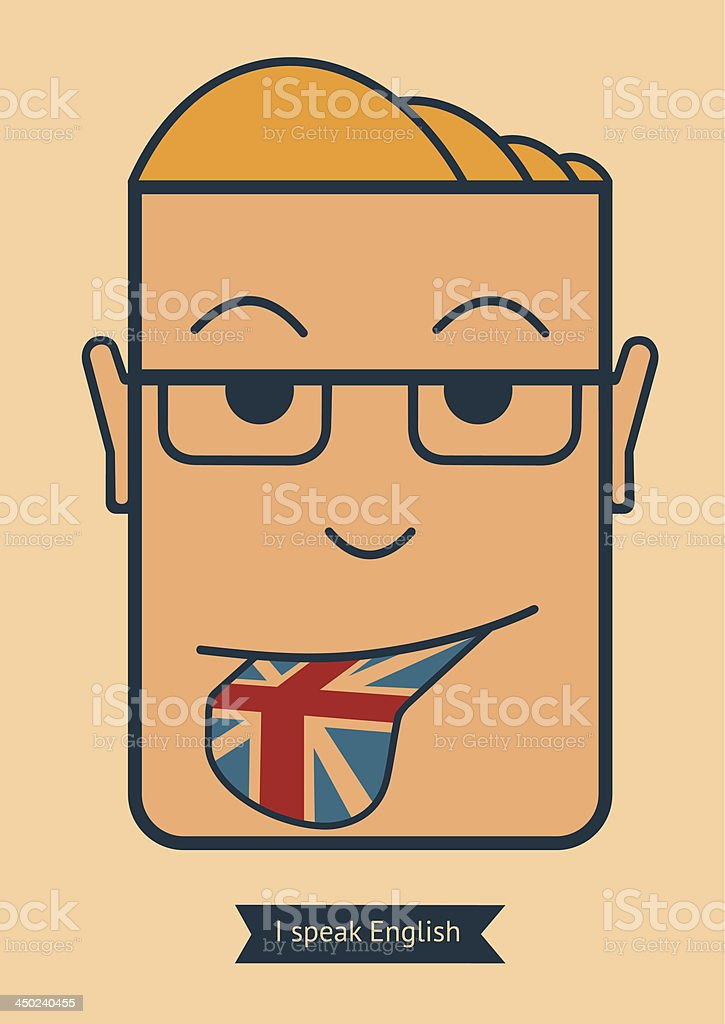 I speak English royalty-free stock vector art