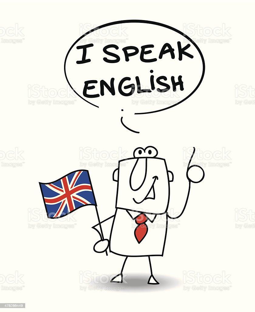I speak english vector art illustration