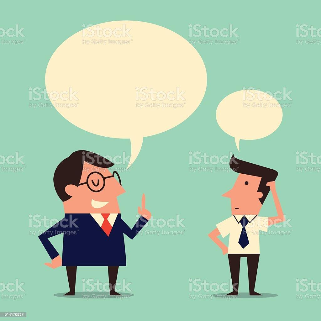 Speaker and listener vector art illustration