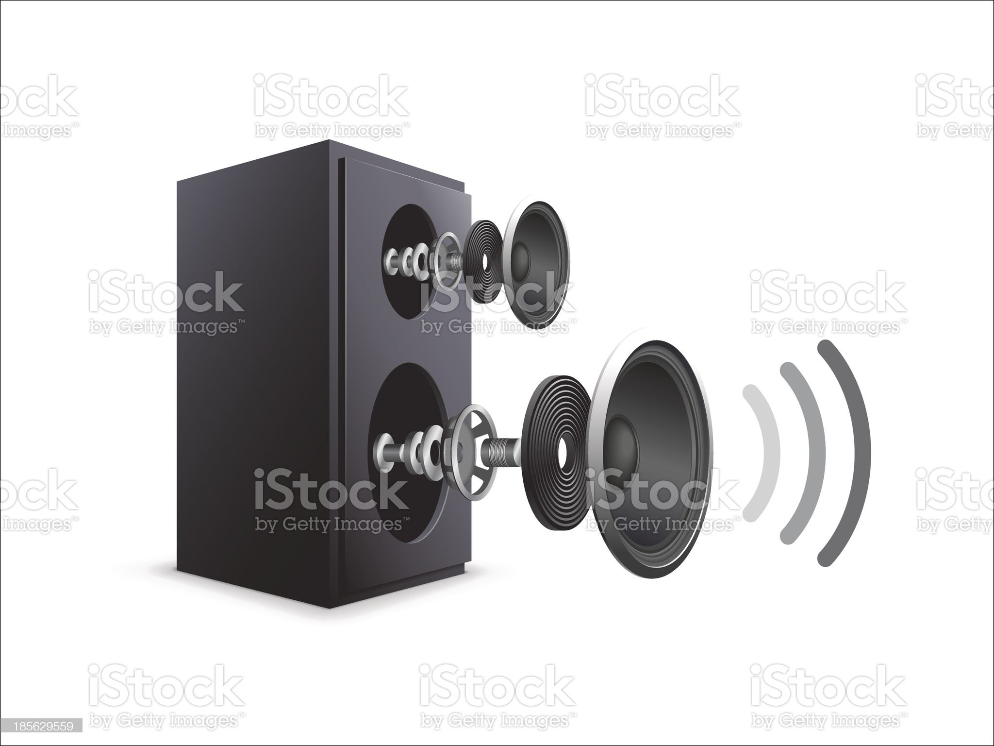 Speaker Components royalty-free stock vector art