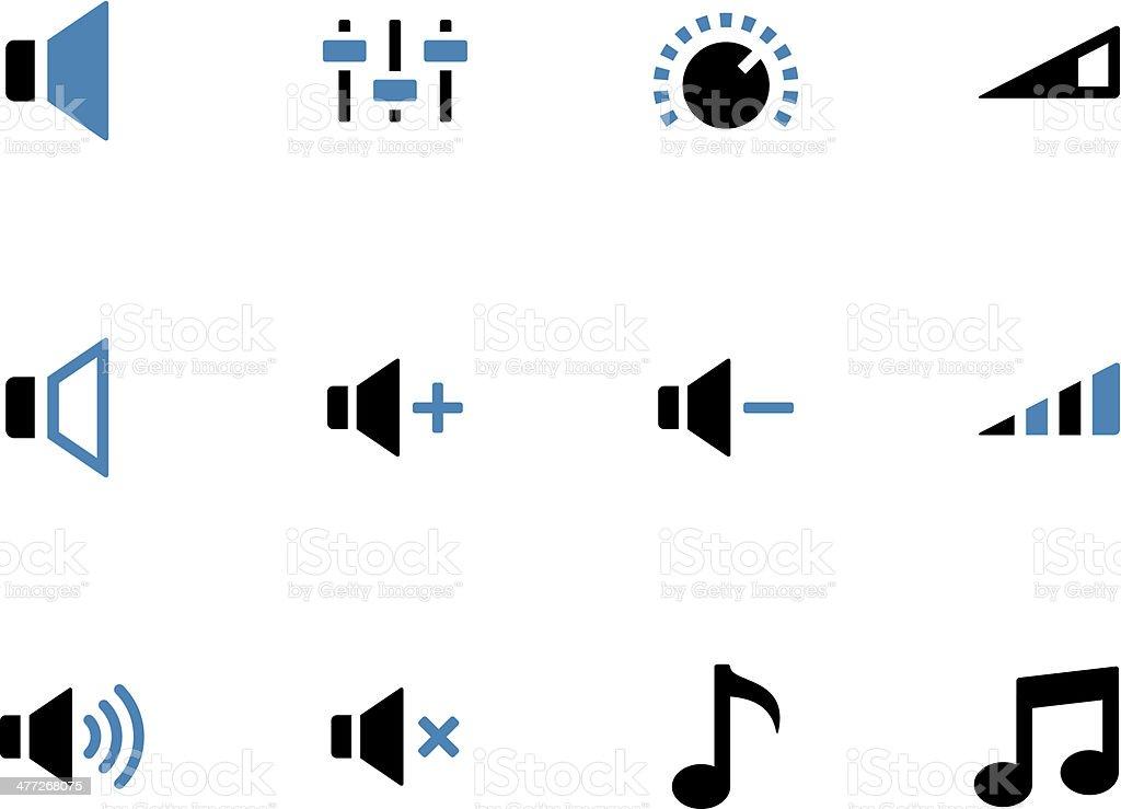 Speaker duotone icons on white background. vector art illustration