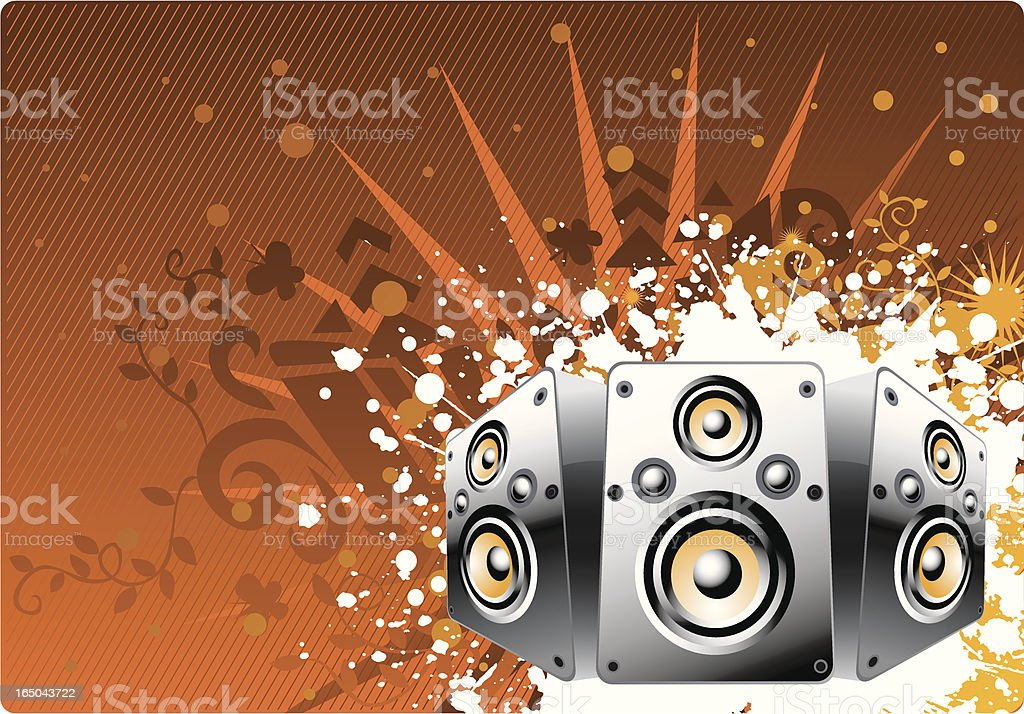 speaker floral 2 royalty-free stock vector art
