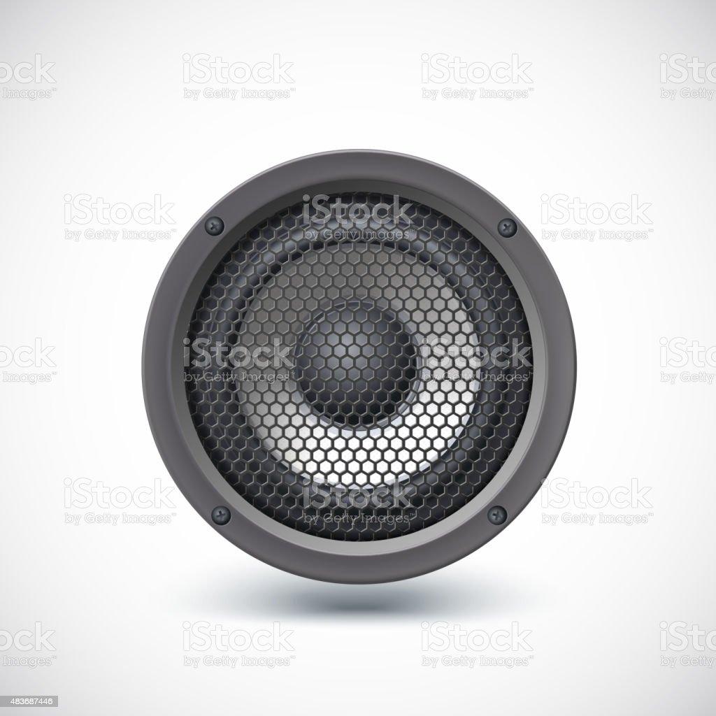 Speaker isolated. vector art illustration