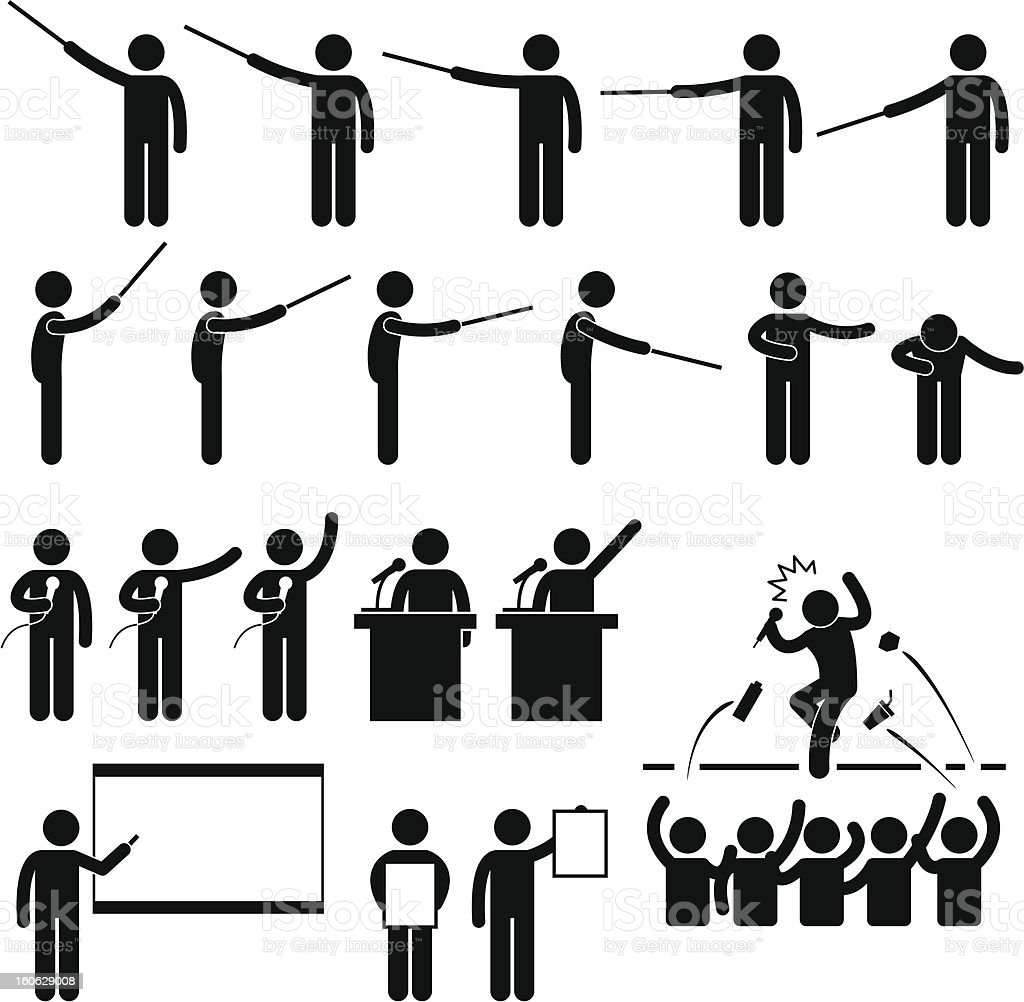 Speaker Presentation Pictogram royalty-free stock photo