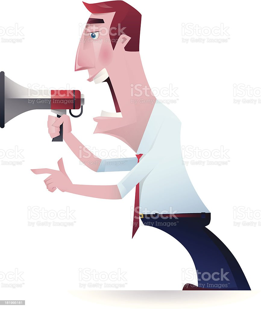 speaker  shouting and pointing royalty-free stock vector art