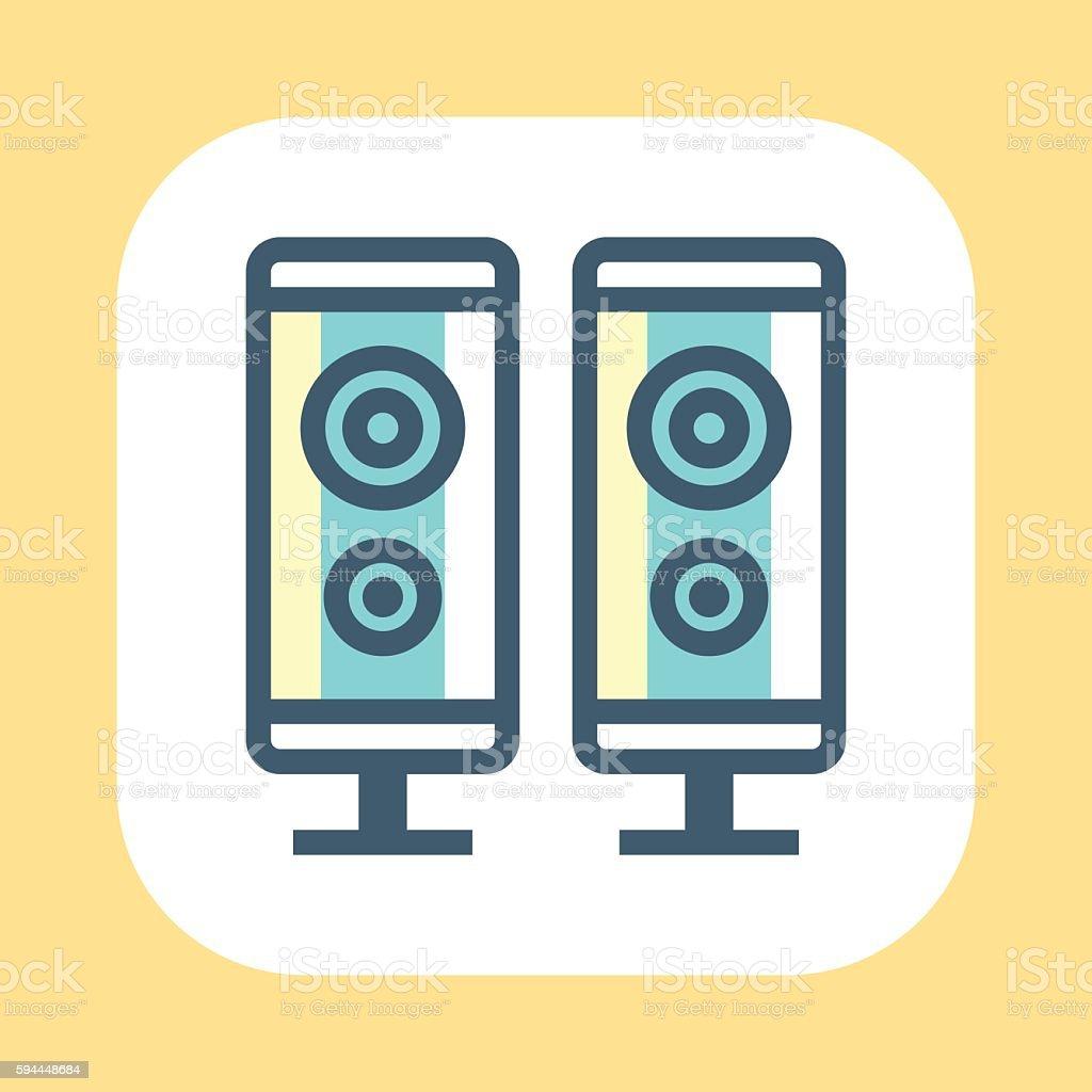 Speaker Symbol vector art illustration